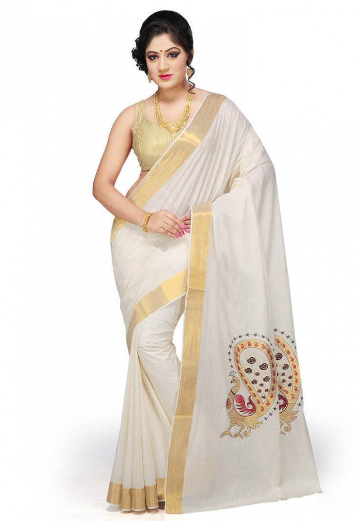 Saree Market: Kerala Saree Cream Colour