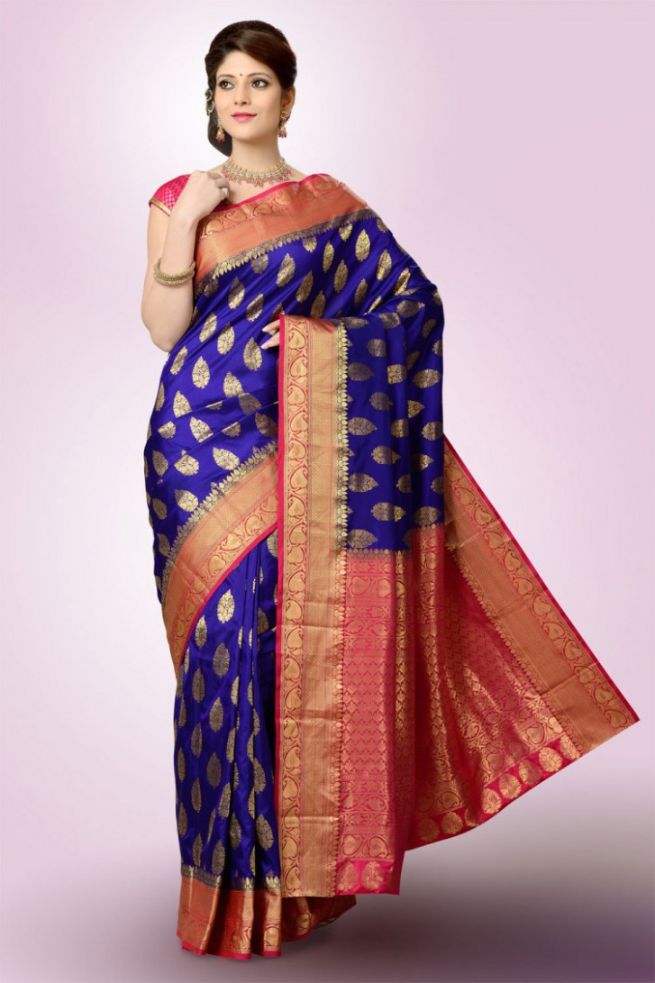 Saree Market: Purpal Colour Kanjeevaram Saree