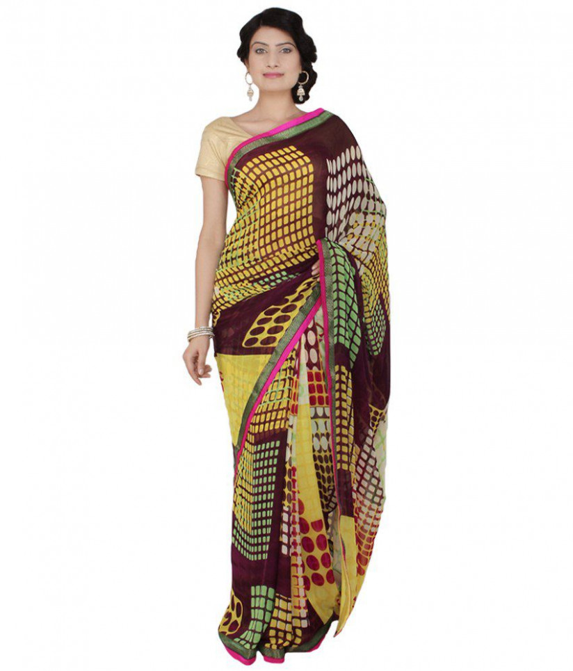 Saree Palace Multicoloured Georgette Saree - Buy Saree