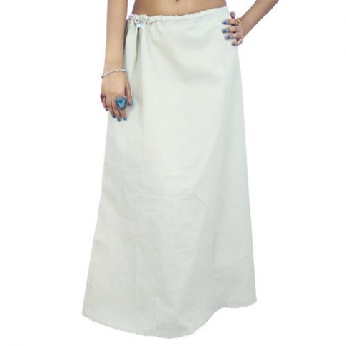 Saree Petticoat White, Can Can, पेटिकोट - Reeti Bazaar