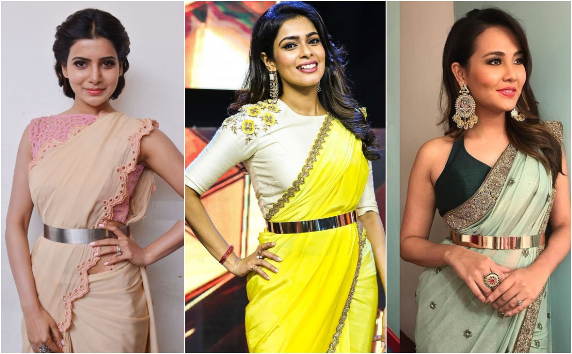 Saree With Belt: Buckle up your Sarees with 5 Types of