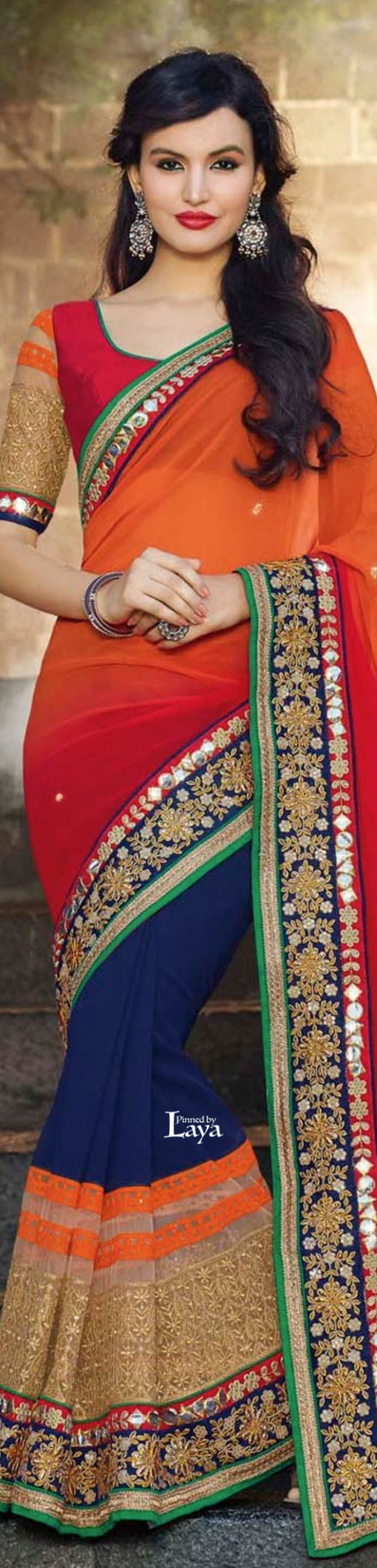 #SAREES women fashion outfit clothing style apparel