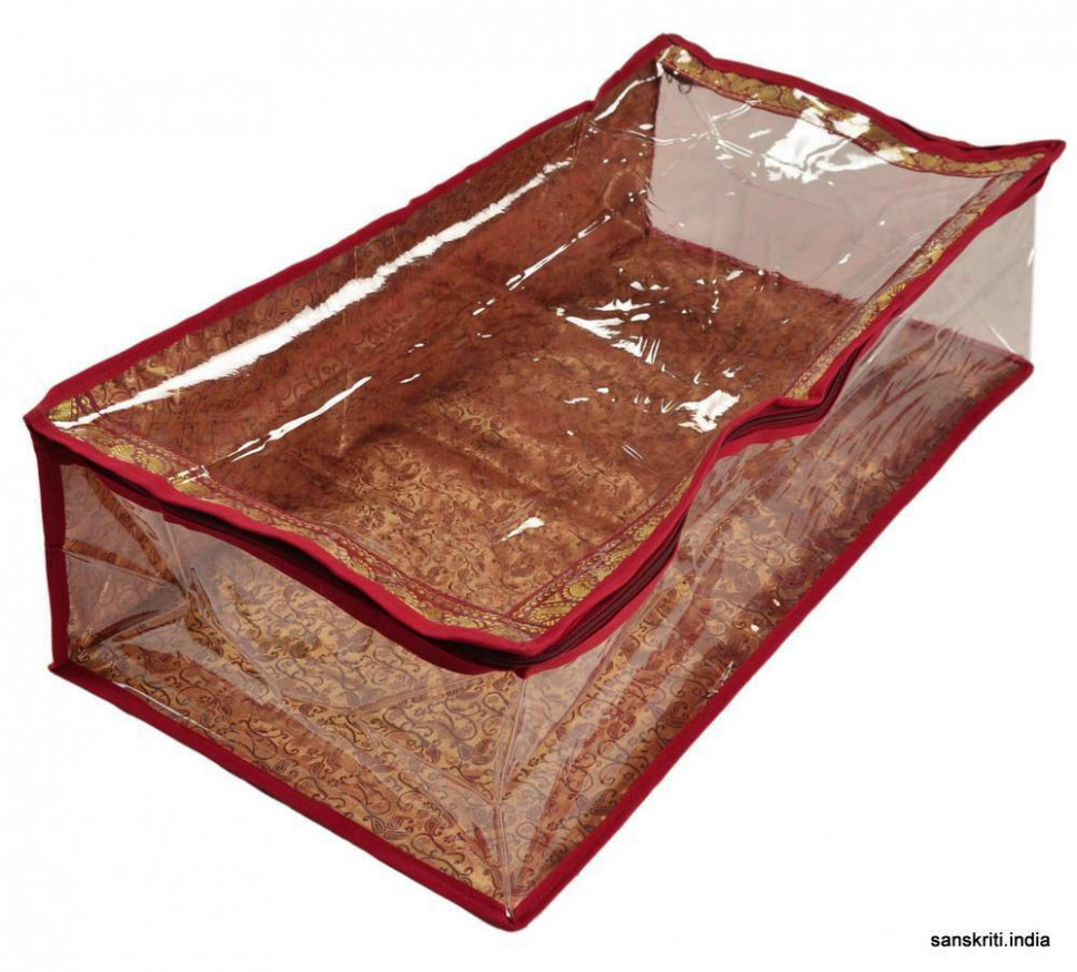 SARI-SAREE/LEHENGA COVER-BAGS-PACKAGING-STORAGE ONE SIDE
