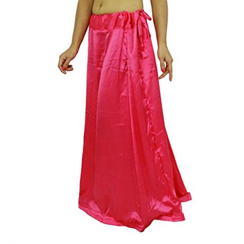 Satin Silk Saree Petticoat Underskirt Bollywood Indian