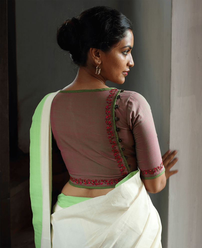 Selected Best of Cotton Saree Blouse Patterns  Saree Guide