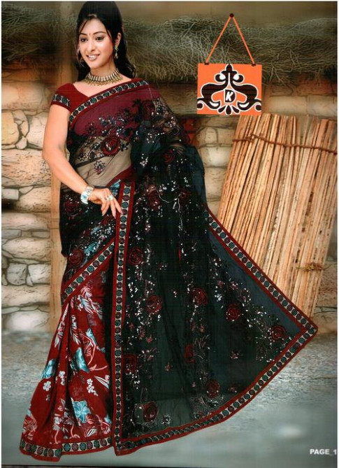Sequence Work Embroidered Saree in Kolkata, West Bengal