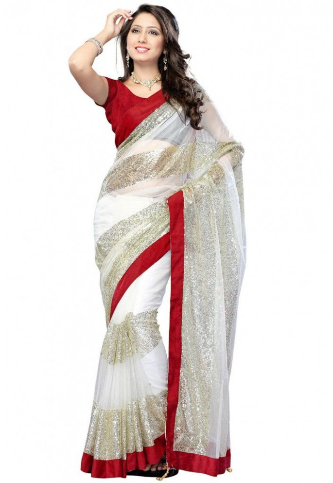 Sequins Saree  Sarees  Pinterest  Sequins, Saree and