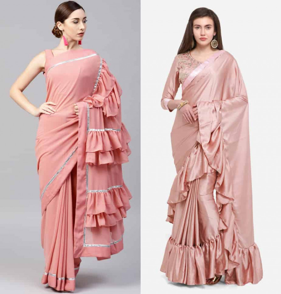 Shilpa Shetty Ruffle Saree Looks - Where To Shop Them Online