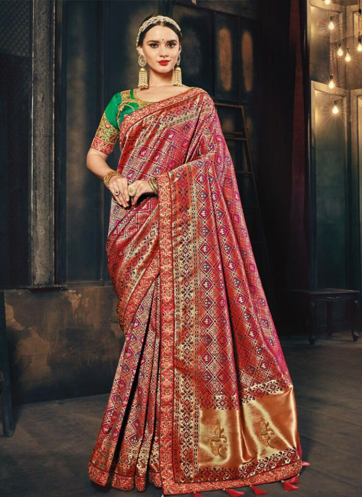 Shop Banarasi Silk Traditional Saree For Bridal Online