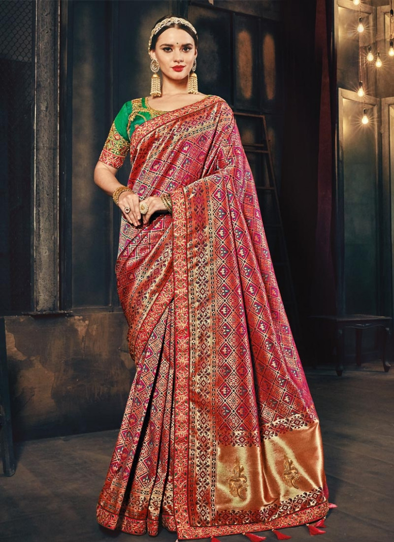 Shop Banarasi Silk Traditional Saree For Bridal Online - banarasi silk saree online