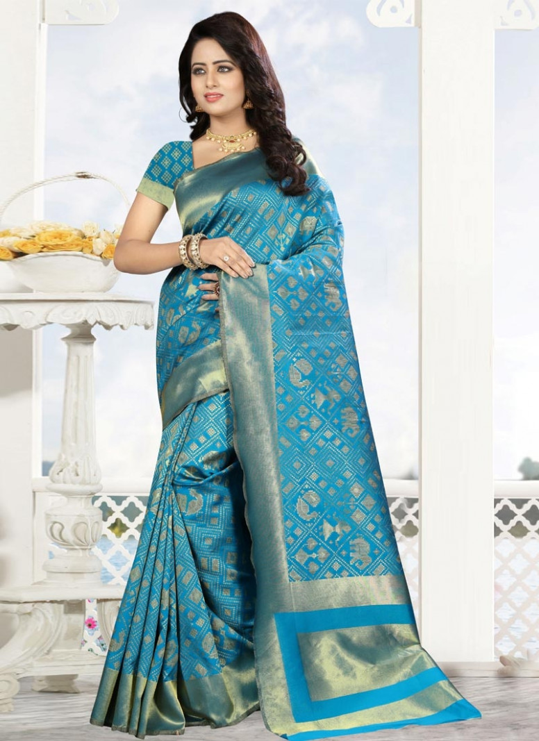 Shop Kanjivaram Silk Trendy Saree Online In New Zealand
