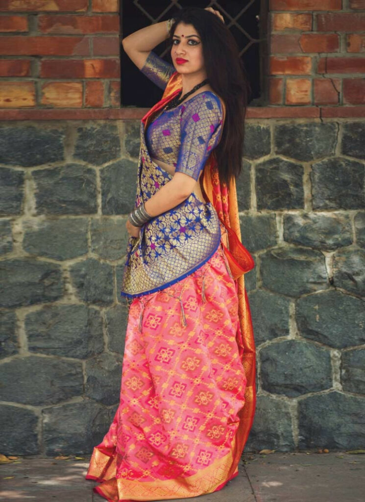 Shop Patola Silk Contemporary Style Saree Online In UK