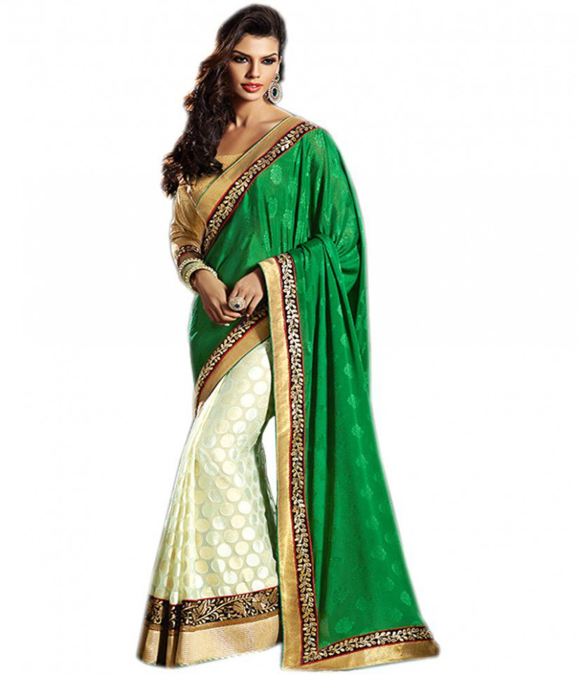 Shree Ambe Designer Sarees Multicoloured Brasso Saree