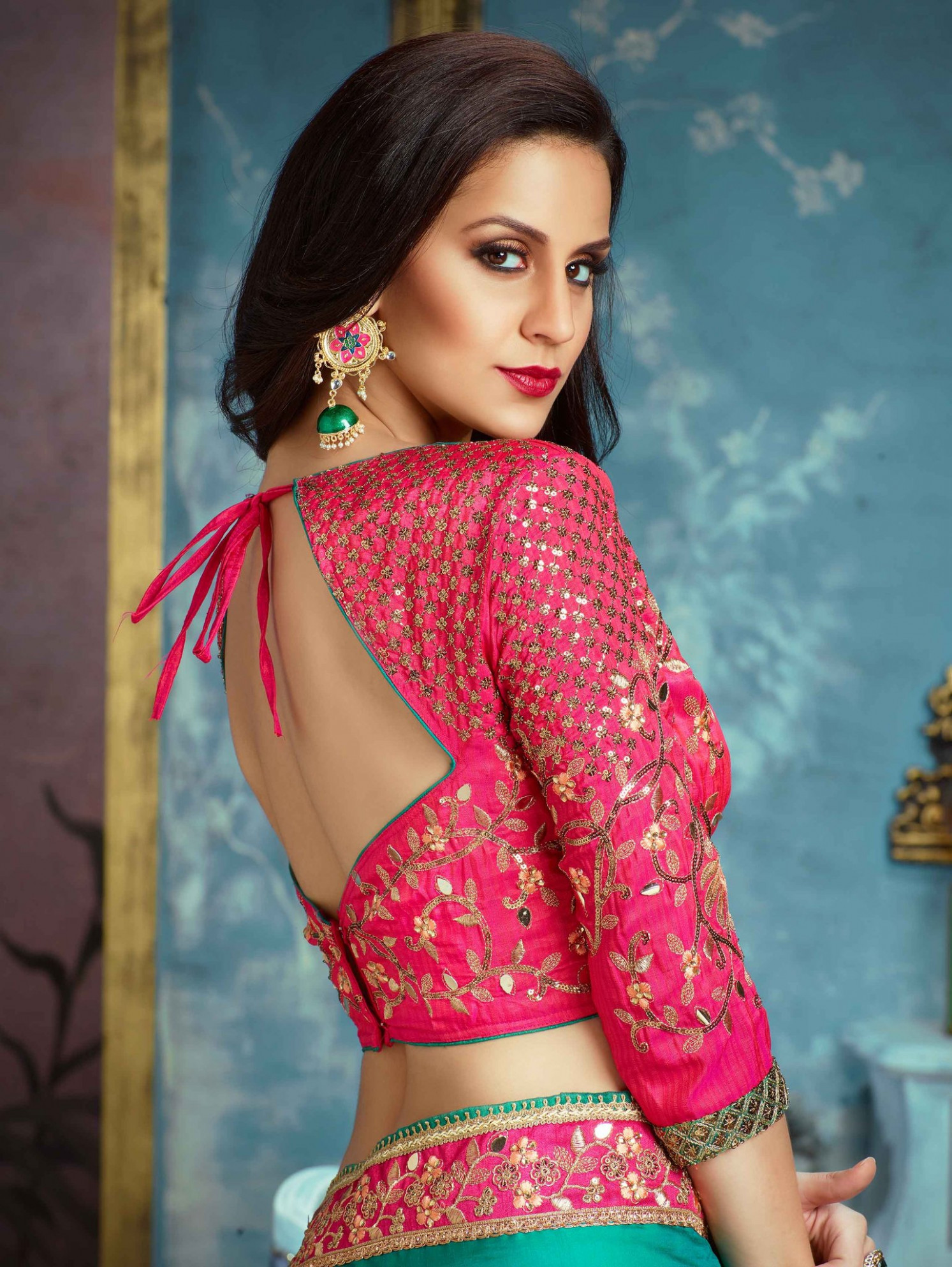 Silk Saree Blouse Design  Latest Silk Saree Blouse