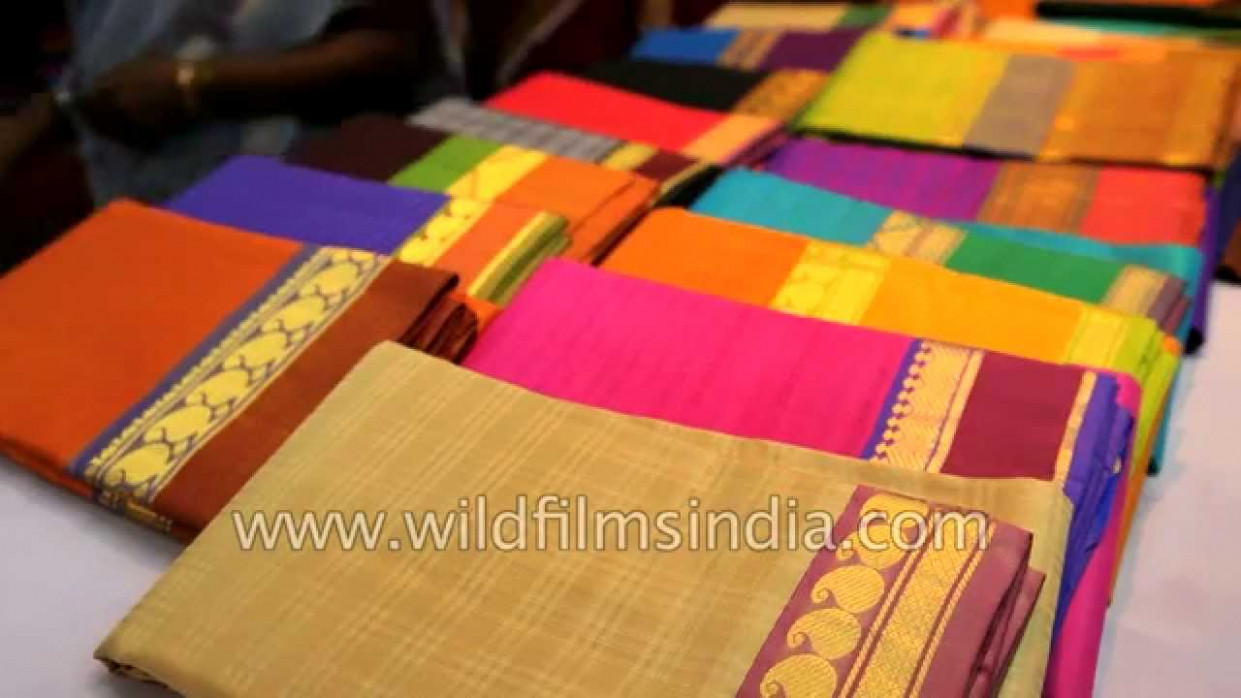 Silk Saree shop in Kanchipuram - YouTube