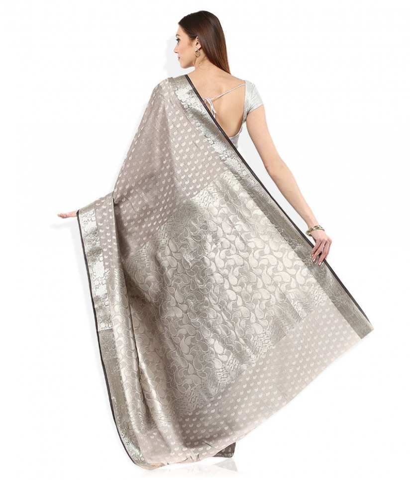 Silver Saree Blouse