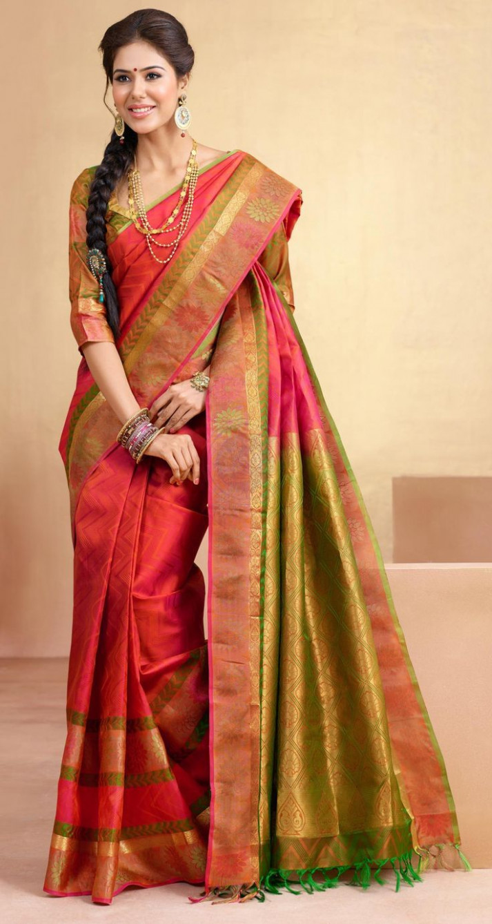simple red indian wedding saree 2016 - Google Search