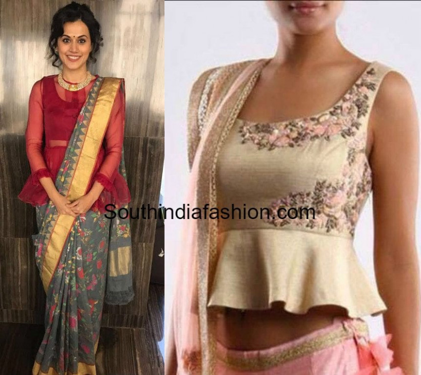 Styling Your Saree with a Peplum Blouse – South India Fashion