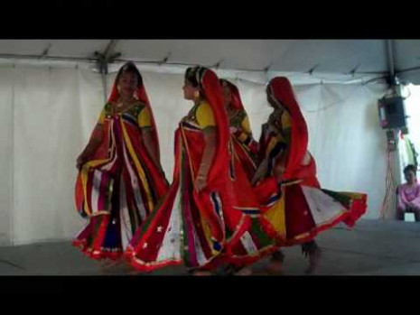 Sujatha Srinivasan and Asian Indian stick dance - YouTube