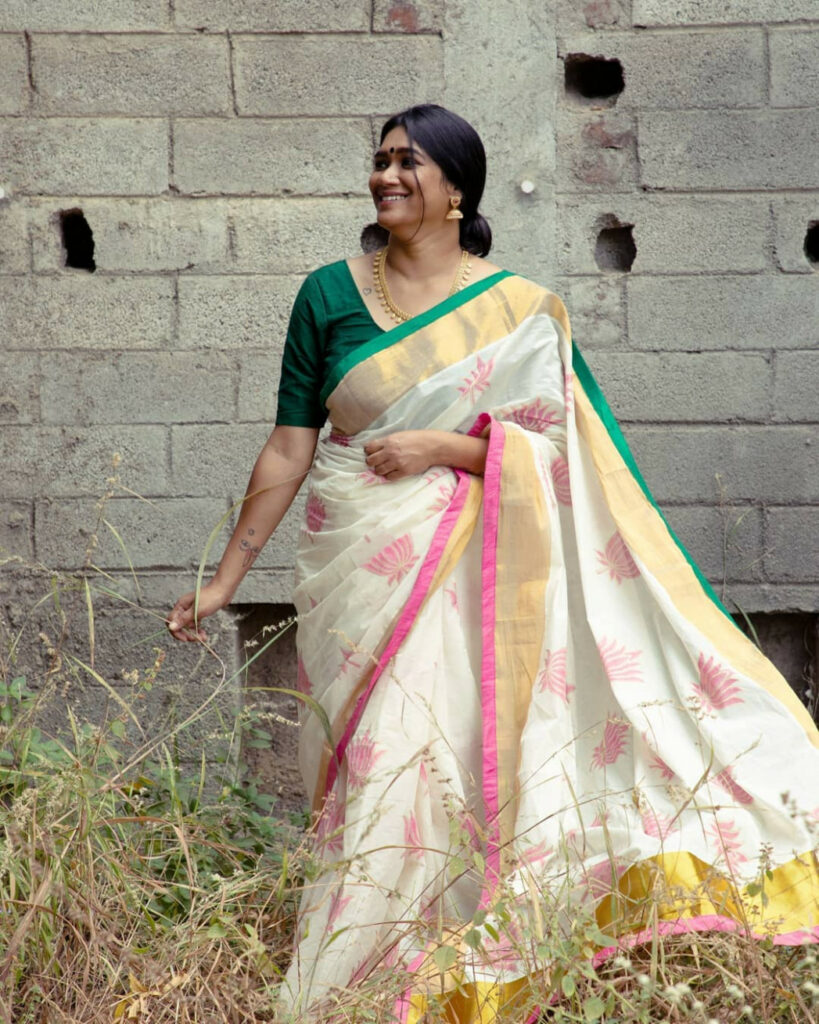 This Brand Sells Stunning Kerala Style Sarees Now • Keep