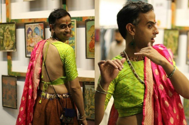 This Delhi Man Has Been Rockin' Sarees For Years To Make A