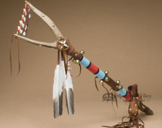Tigua Indian Beaded Dance Stick
