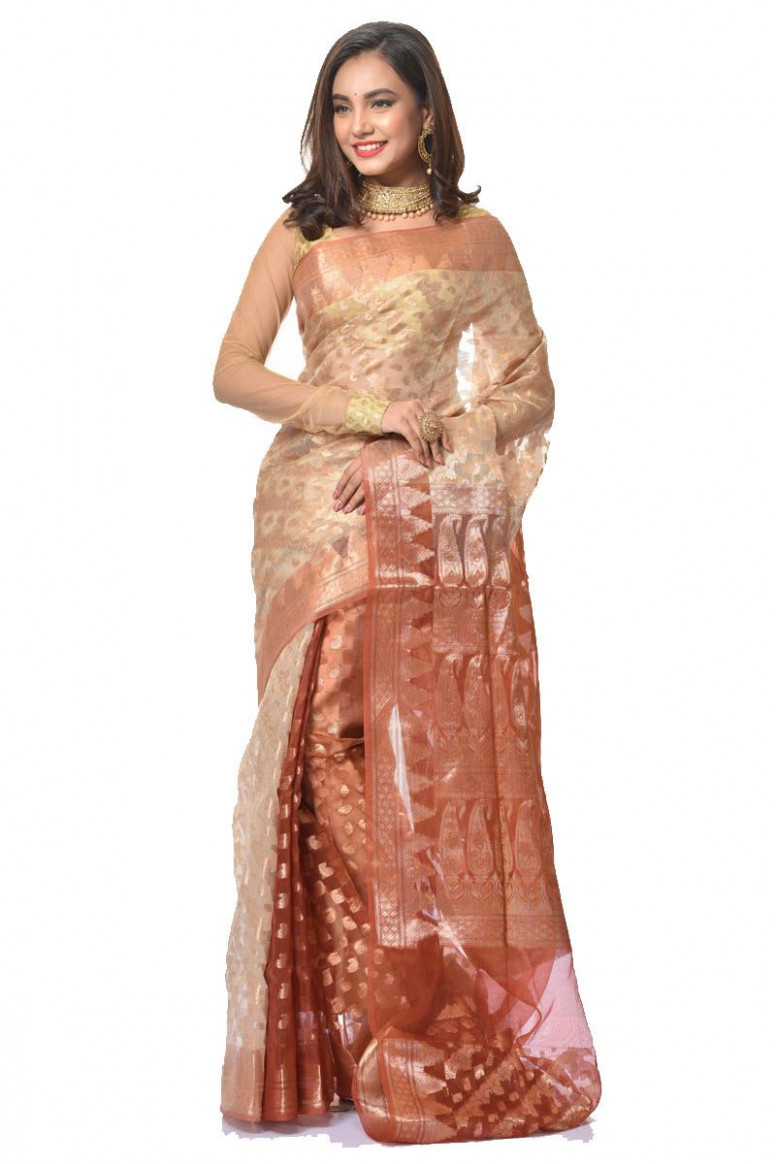 Tissue Chanderi Silk Saree (adi34690)