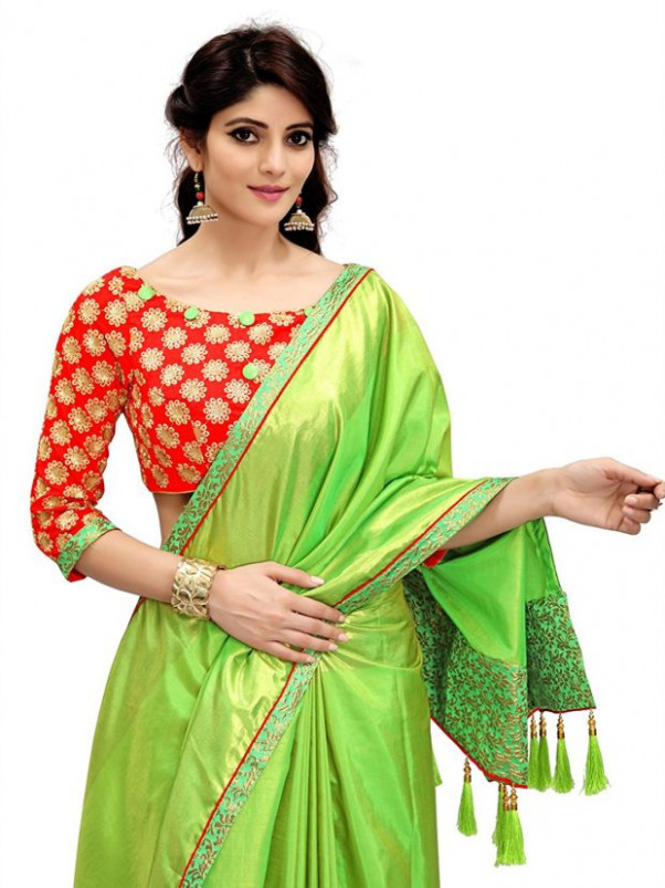 Top 10 Silk Saree Blouse Designs Patterns & Silk Saree