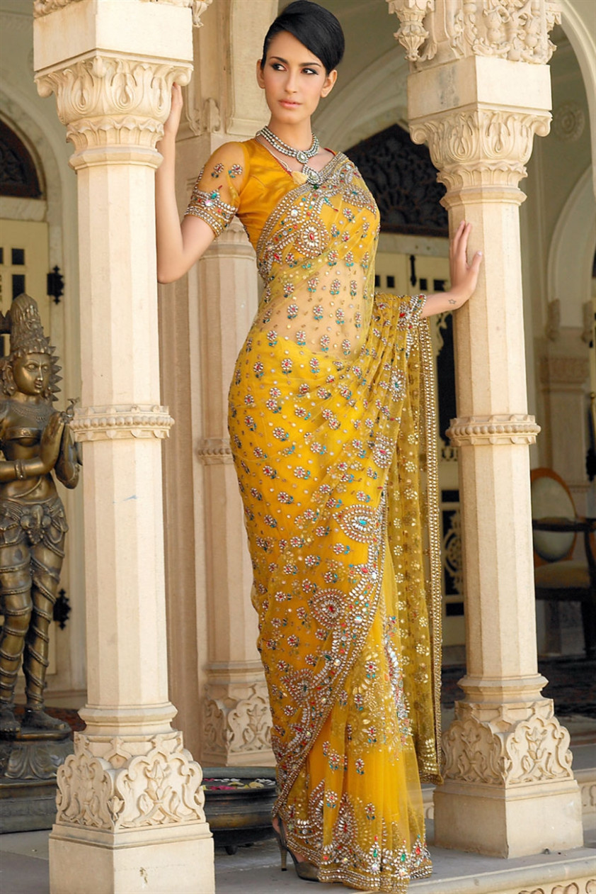 Top 15 Beautiful Yellow Sarees With Pictures  Styles At Life