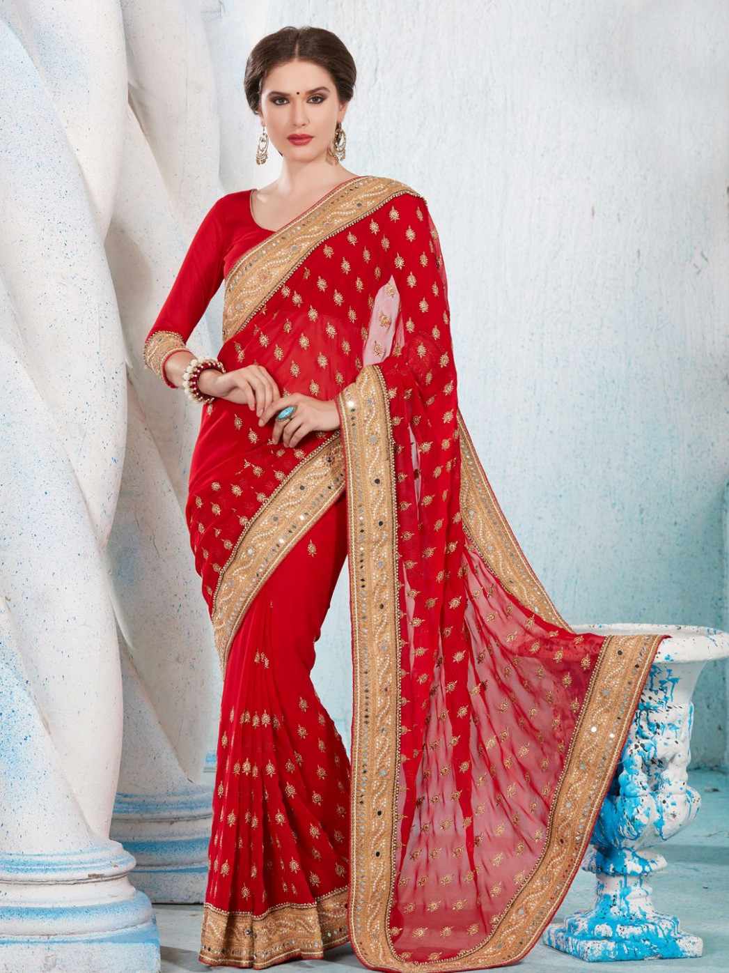 Top 15 Red color sarees you Must Have — G3+ Fashion