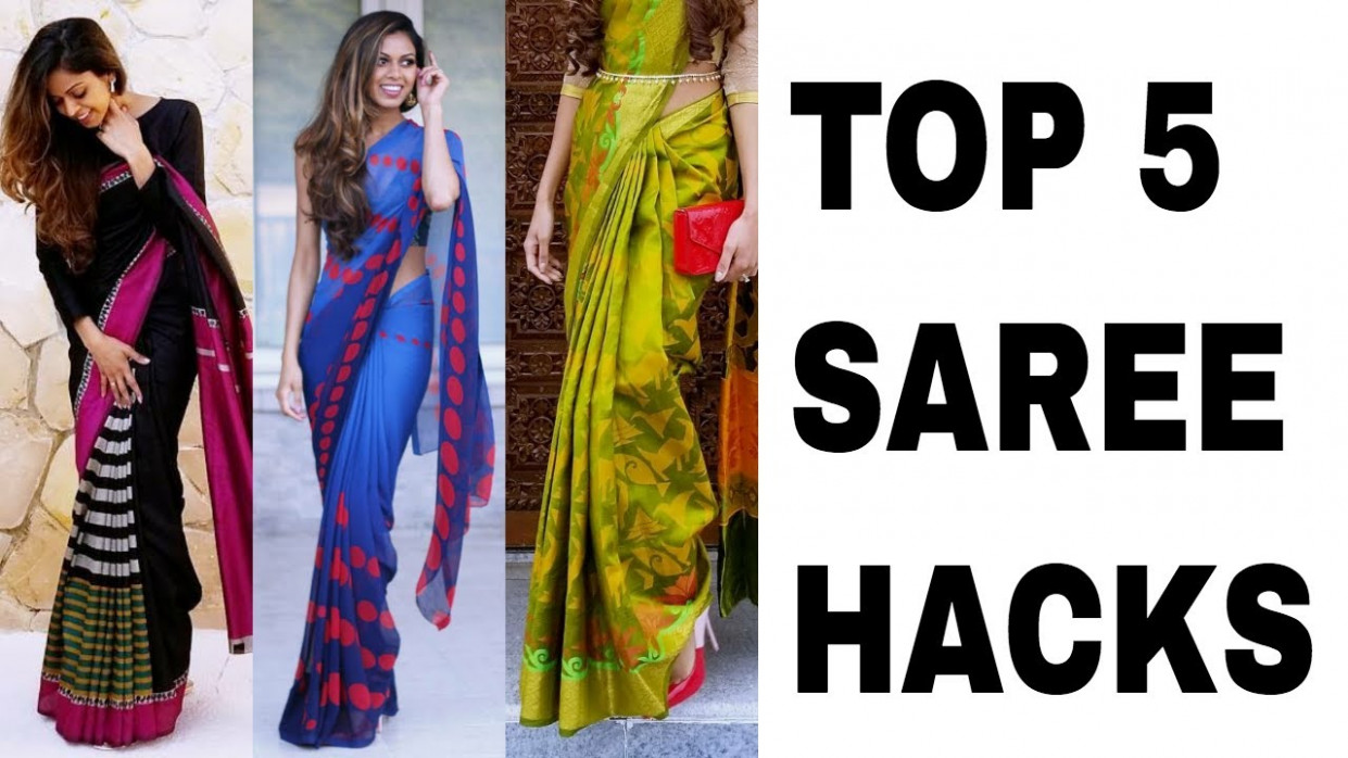 Top 5 Saree Draping Hacks  Tia Bhuva - YouTube