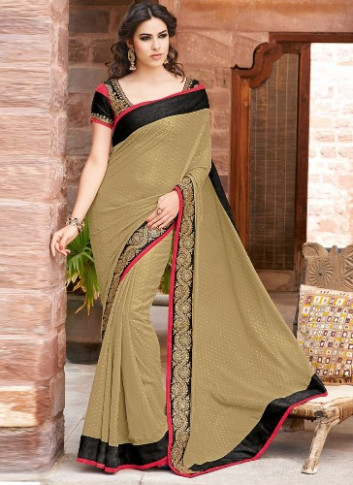 Top 9 Amazing Brown Sarees With Pictures  Styles At Life