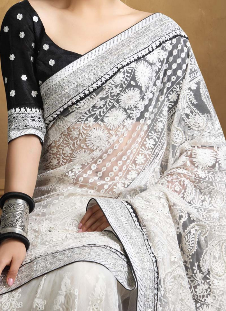 Top 9 Chikankari Sarees With Pictures  Styles At Life