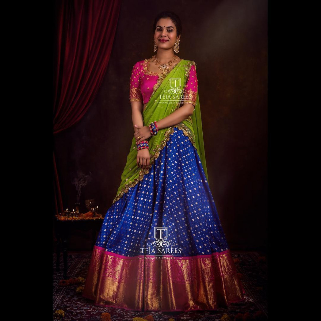 Top Half Saree Designs That Will Look Too Good in Photos