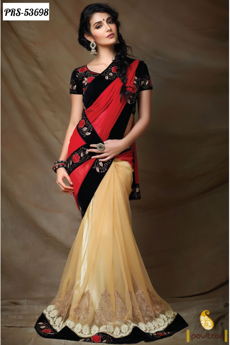 Topless 10 New Arrival Sarees Designs 2016 Collection in  - topless saree