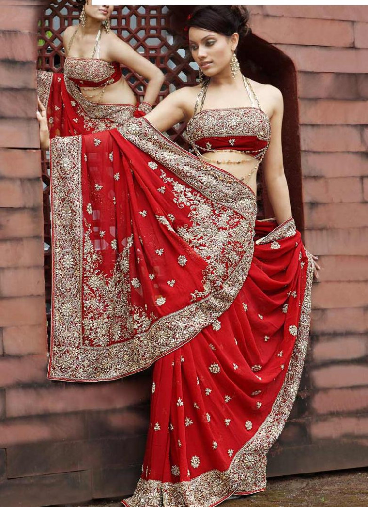 Traditional and Modern Wedding Saree From Indian - Wedding