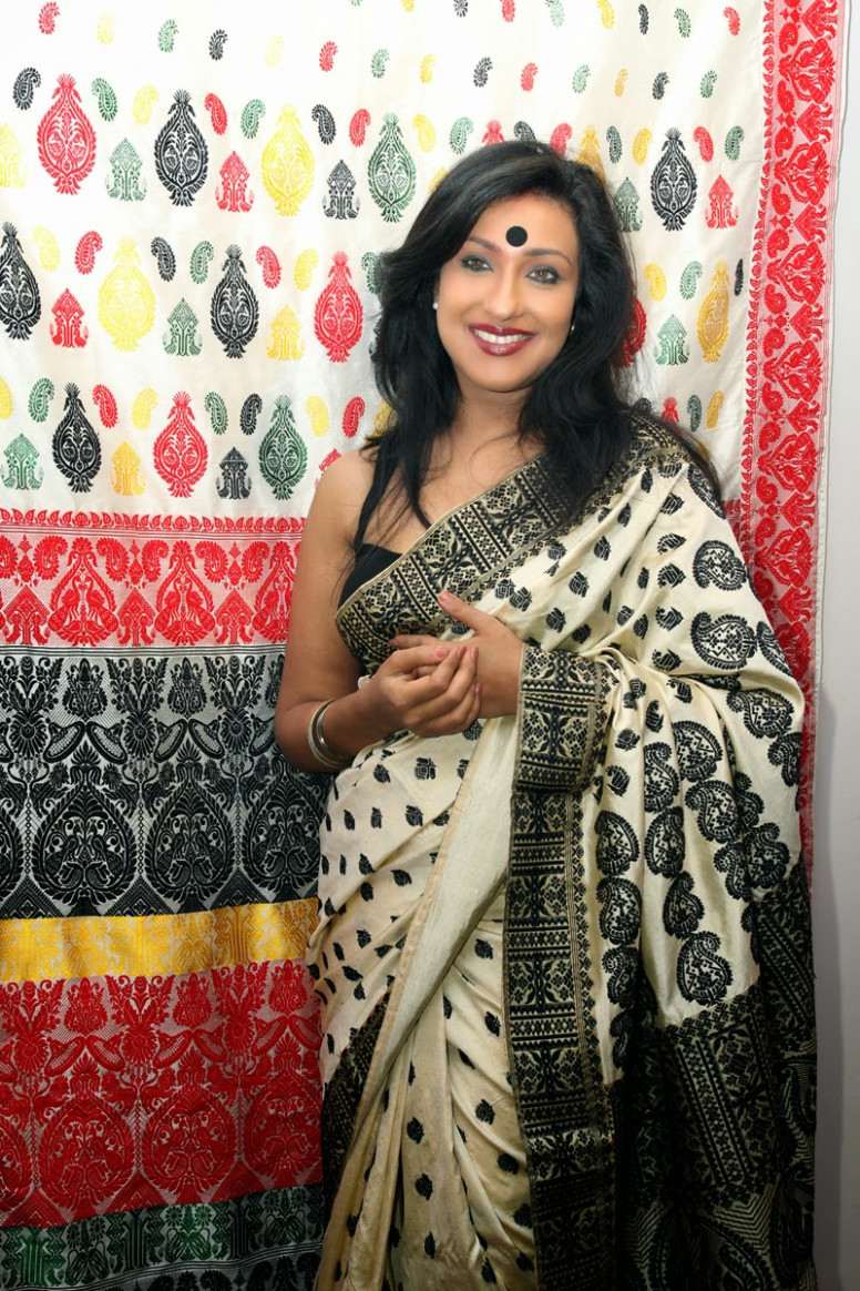TRADITIONAL MUGA SAREES FROM ASSAM FROM SAMPA'S COLLECTION