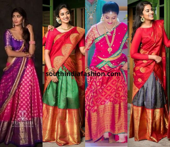 Traditional Pattu Half Sarees For 2018 Weddings And How To