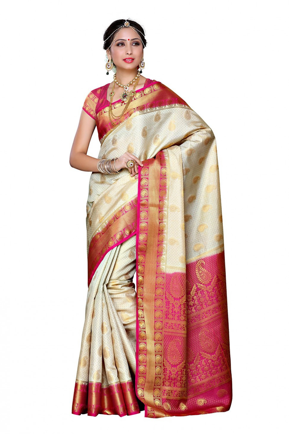 Traditional Silk Saree From Mimosa  Amazon Online Shopping