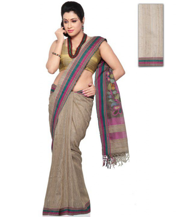 Utsav Fashion Gray Silk Saree - Buy Utsav Fashion Gray