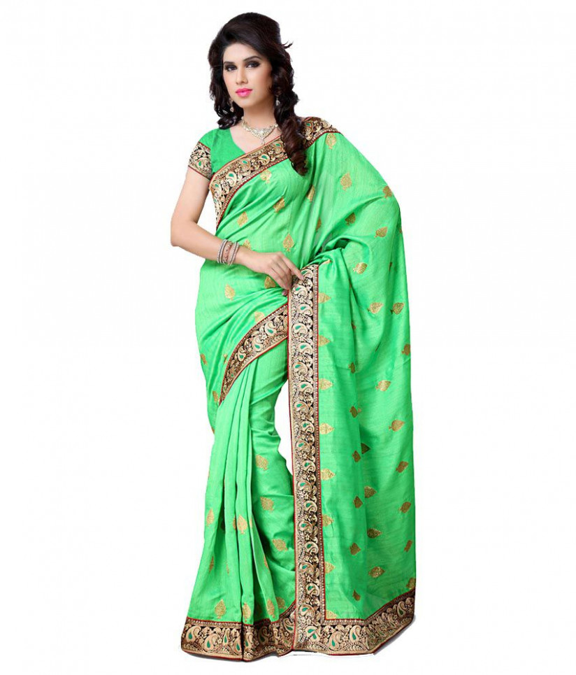 Utsav Fashion Green Art Silk Saree - Buy Utsav Fashion