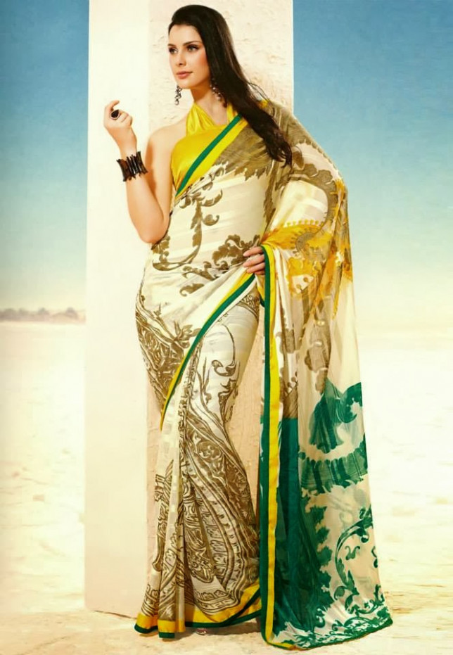 Utsav Fashion Printed Saree 2014Style Fashion for Gilrs