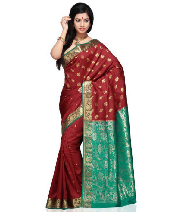 Utsav Fashion Red Art Silk Saree - Buy Utsav Fashion Red