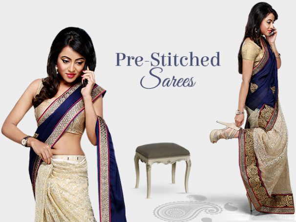 Wear Pre-stitched Sarees With The Ease Of A Skirt - Utsav