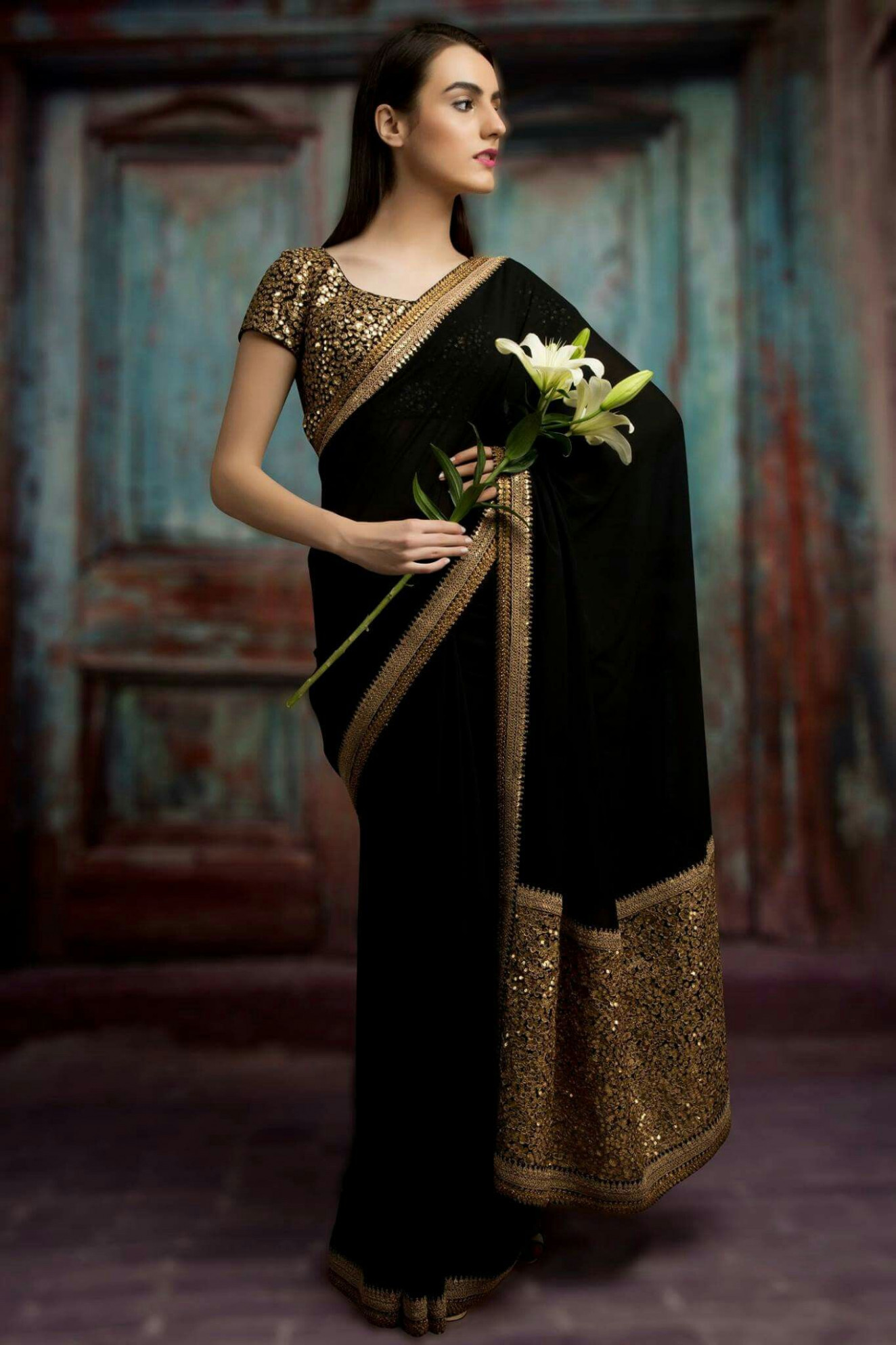 Wedding collection  Elegant saree, Net saree designs