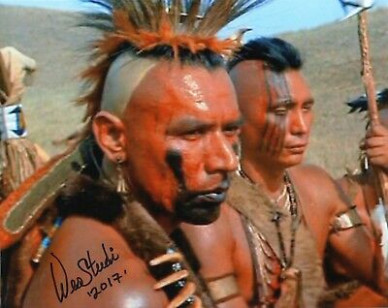 WES STUDI SIGNED DANCES WITH WOLVES PAWNEE INDIAN PHOTO