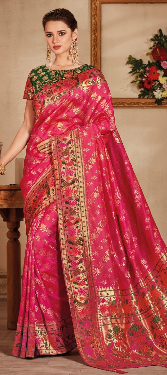 What saree material is best for a wedding? - Quora