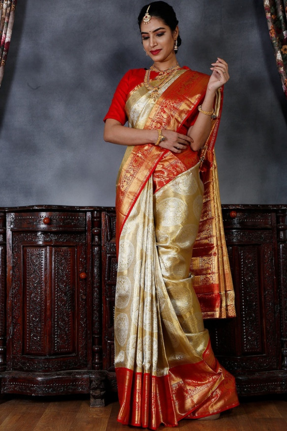 Where can I buy bridal pure kanjeevaram sarees in