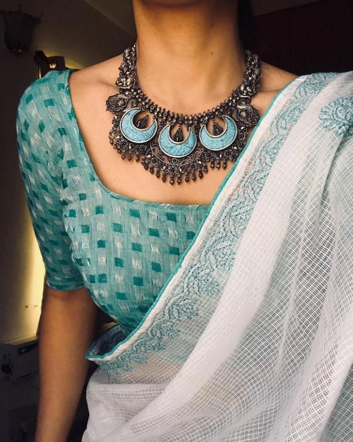 Where Can One Shop Wedding Jewellery Online  Saree blouse
