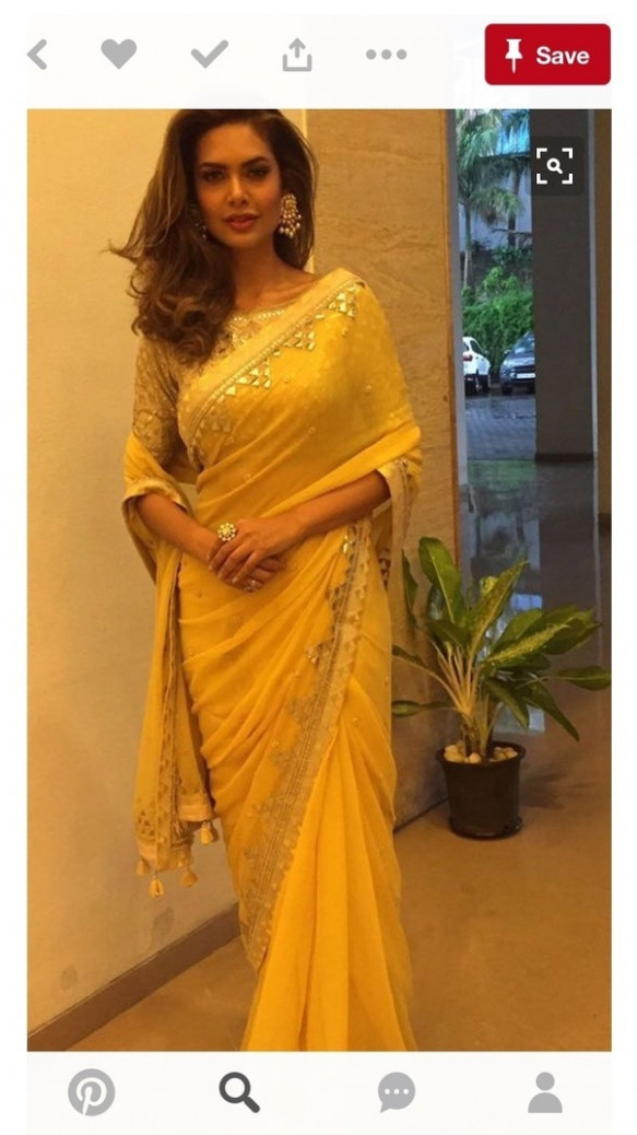 Which color blouse will match a yellow saree? - Quora - yellow saree blouse
